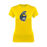 Ladies Syntrel Performance Gold Tee-Spartan Head