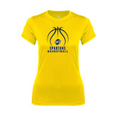 Ladies Syntrel Performance Gold Tee-Stacked Basketball