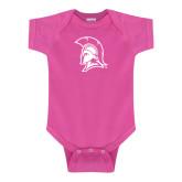 Fuchsia Infant Onesie-Spartan Logo