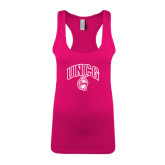 Next Level Ladies Raspberry Jersey Racerback Tank-Arched UNCG w/Spartan