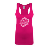 Next Level Ladies Raspberry Jersey Racerback Tank-UNCG Shield
