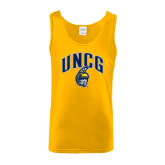 Gold Tank Top-Arched UNCG w/Spartan