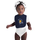 Navy Baby Bib-Spartan Logo