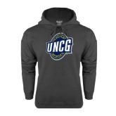 Charcoal Fleece Hoodie-UNCG Shield
