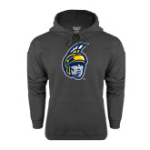 Charcoal Fleece Hoodie-Spartan Head