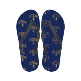 Ladies Full Color Flip Flops-Arched UNCG w/Spartan