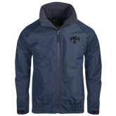 Navy Charger Jacket-Arched UNCG w/Spartan