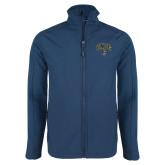 Navy Softshell Jacket-Arched UNCG w/Spartan