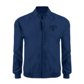 Navy Players Jacket-Arched UNCG w/Spartan