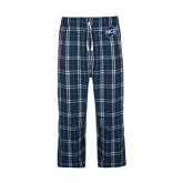 Navy/White Flannel Pajama Pant-UNCG Shield