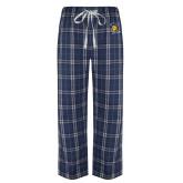 Navy/White Flannel Pajama Pant-Spartan Logo
