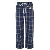 Navy/White Flannel Pajama Pant-Lock Up