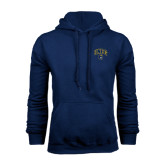 Navy Fleece Hoodie-Arched UNCG w/Spartan