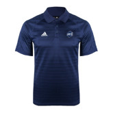 Adidas Climalite Navy Jaquard Select Polo-UNCG Shield