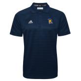 Adidas Climalite Navy Jacquard Select Polo-Spartan Logo