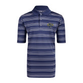 Adidas Climalite Navy Textured Stripe Polo-Arched UNCG w/Spartan