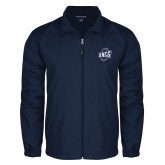 Full Zip Navy Wind Jacket-UNCG Shield