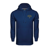 Under Armour Navy Performance Sweats Team Hoodie-Arched UNCG w/Spartan