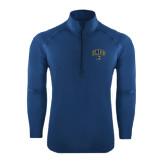 Sport Wick Stretch Navy 1/2 Zip Pullover-Arched UNCG w/Spartan