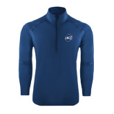 Sport Wick Stretch Navy 1/2 Zip Pullover-UNCG Shield