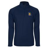 Sport Wick Stretch Navy 1/2 Zip Pullover-Spartan Logo