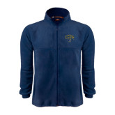 Fleece Full Zip Navy Jacket-Arched UNCG w/Spartan