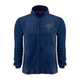 Fleece Full Zip Navy Jacket-Arched UNCG w/Spartan