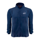 Fleece Full Zip Navy Jacket-UNCG Shield