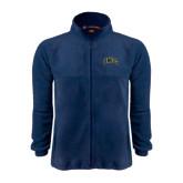 Fleece Full Zip Navy Jacket-Arched UNCG