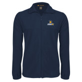 Fleece Full Zip Navy Jacket-Lock Up