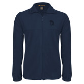 Fleece Full Zip Navy Jacket-Spartan Logo