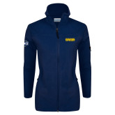 Columbia Ladies Full Zip Navy Fleece Jacket-Baseball SoCon Champions 2017 Text