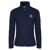 Columbia Ladies Full Zip Navy Fleece Jacket-Spartan Logo