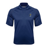 Navy Textured Saddle Shoulder Polo-Spartan Head