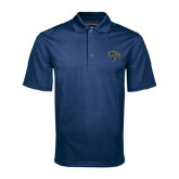 Navy Mini Stripe Polo-Arched UNCG w/Spartan