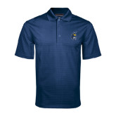 Navy Mini Stripe Polo-Spartan Head
