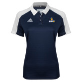 Ladies Adidas Modern Navy Varsity Polo-Lock Up