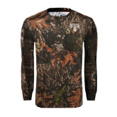 Realtree Camo Long Sleeve T Shirt w/Pocket-Arched UNCG w/Spartan