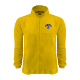 Fleece Full Zip Gold Jacket-Arched UNCG w/Spartan