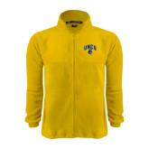 Fleece Full Zip Gold Jacket-Arched UNCG w/Spartan
