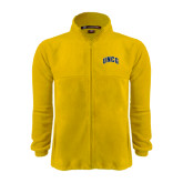 Fleece Full Zip Gold Jacket-Arched UNCG