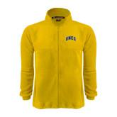 Fleece Full Zip Gold Jacket-Arched UNCG