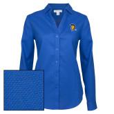 Ladies Red House Diamond Dobby Royal Long Sleeve Shirt-Spartan Logo