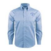 Red House Light Blue Plaid Non Iron Long Sleeve Shirt-Arched UNCG w/Spartan