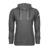 Adidas Climawarm Charcoal Team Issue Hoodie-Arched UNCG w/Spartan