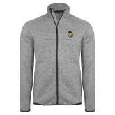 Grey Heather Fleece Jacket-Spartan Logo