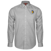 Red House Grey Plaid Long Sleeve Shirt-Spartan Logo