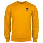 Gold Fleece Crew-Spartan Logo