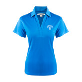 Ladies Light Blue Performance Fine Jacquard Polo-Arched UNCG w/Spartan