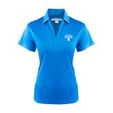 Ladies Light Blue Performance Fine Jacquard Polo-Arched UNCG w/Spartan